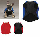Blue or red Fleece Vest w Ripstop Chest Dog Coat sleeveless Jacket XXS XS S