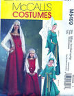 McCall's 5499 Sewing Pattern FOR Adult or Child Medieval Costume Belt Hat & Veil