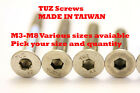 A2 STAINLESS STEEL COUNTERSUNK SOCKET SCREW Flat Head ALLEN Bolts M3 M4 M6 M8