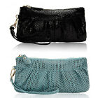 New Womens Leather Zip Wallet Purse Clips Clutch Coin Card Phone Pouch Party Bag
