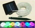 Solar Rope 100Led light Tube String Yard Garden Fairy Party Waterproof D077 G