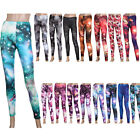 Chic Galaxy Printed Leggings Women Skinny Stretch Pants Footless Tights 17 Color