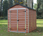 PALRAM SKYLIGHT PLASTIC GARDEN SHED 6ft x 8ft BRAND NEW DESIGN FREE DELIVERY!!