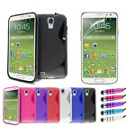 GRIP WAVE CASE COVER FITS SAMSUNG GALAXY S4 MINI + SCREEN PROTECTOR