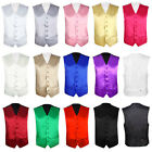 "Mens Wedding Waistcoat Groom Size 36""-48"" Chest Available S M L XL XXL XXXL"