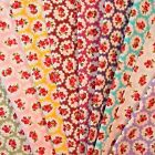 Roses and Spots Fabric HALF METRE 100% Cotton on Four Red, Blue, Green or Pink