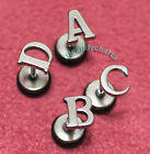 Personalized A TO Z Alphabet Letter 26 Initial Stud Earring Stainless Steel 2PCS