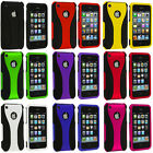 Color Black 3-Piece Hard Rubberized Case Cover for Apple iPhone 3G S 3GS