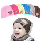 Cute Infant Baby Boys&Girls Kids Bear Polka Dots knit Beanie Candy Color Hat Cap