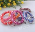 10/30/50pcs Telephone Wire Stretchable Spiral Wrist Coil Key Chains ER053