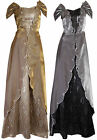 Magical Shiny Sequin Floral Lace Layered Formal Evening Ball Gown Dress UK 8-16