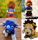 Pet DOG puppy Costume superman/Batman/ Spider-man/frog/pikachu Cosplay outfit