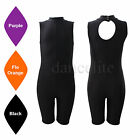 SALE NEW SLEEVELESS POLO NECK CYCLE SHORT LEG UNITARD/CATSUIT DANCE/GYM/DISCO