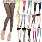 Women's Sexy Candy Colors Mesh Sheer Stretchy Cropped Leggings Pants