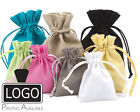 Cotton Linen Gift Pouch Bag with Cotton Drawstring All Sizes & Quantities