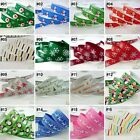 9mm/16mm/22mm mixed Christmas cartoon grosgrain ribbon craft 16 designs U pick