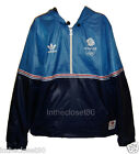 NEW OFFICIAL ADIDAS LONDON 2012 OLYMPICS WINDBREAKER 1/2 ZIP MENS JACKET BLUE