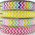 "1 metres mixed colorful chevron grosgrain ribbon craft lot craft 1""(25mm) U pick"