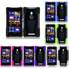 For Nokia Lumia 925 Advanced  KICK STAND Rubber Phone Case Cover Accessory
