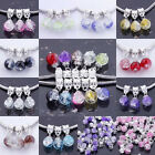 (11 Colour) Wholesale Crystal Glass Ball Dangle European Bead Charm Pendant