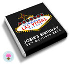 Personalised WELCOME to Fabulous LAS VEGAS Nevada Birthday Favour Chocolates