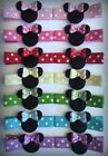 Boutique Baby Girl Hair Clips Bows Minnie Mouse Bowtique Hot Pink Holiday Dots