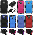 For Kyocera Hydro Edge C5215 Combo Holster HYBRID KICK STAND Rubber Case Cover