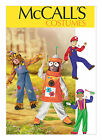 McCall's 6814 Sewing Pattern Costumes - Space Robot Scarecrow Train Driver Mario