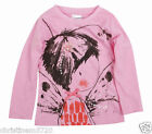 GIRLS COTTON  PINK FAIRY LONG SLEEVE TOP 18-24,2-3,3-4,4-5,5-6 YEARS