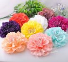 2pcs Big Artificial Peony Flowers Hair Pins Brooch With Alloy Hair Clips JX003