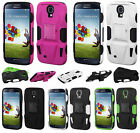 For Samsung Galaxy S4 S IV CAR KICK STAND Hard Case Silicone Phone Cover