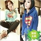 Superman Design Girl Thick Fleeces Sweatshirt Top Coat