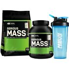 ON Optimum Nutrition Serious Mass 5.4kg  / 2.7kg Weight Gainer + FREE Shaker