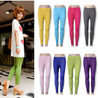 Women Leggings Candy Color Slim Tights Footless Stretch Pants Trousers New