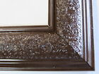 """1.8"""" Wide Swirl Espresso Solid Wood Picture Frame-Custom Made In Square Size"""