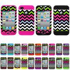 Pink Black Chevron Waves Tribal Aztec Impact Cover Case for Apple iPhone 4 4S