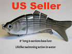 """10""""/8""""/6""""/4"""" Multi-Section Jointed Bass Fishing Lure 4/5/6 Sectional Bait USA"""