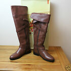 Bronx @ Next Flat Tan Leather Goose Knee High Buckle Detail Riding Boots RRP£135