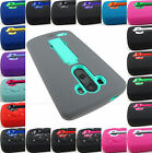 Rugged Hybrid Armor Impact Case Cover For Lg G2 2013 / G3 2014 Phones+stylus / Pen
