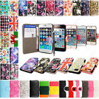 For Various Apple Phones Book Type Card Slot Wallet Flip Case Cover+Guard+Stylus
