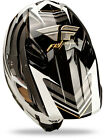 2014 Fly Racing Formula STRYPER Carbon Fiber HELMET Black White Adult XL MX MOTO