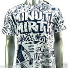 Minute Mirth T-Shirt Sz M L Graffiti Skate Board Tattoo Surf bmx Street N106