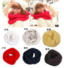 Men Women Winter Warm Infinity Two Circle Cable Knit Cowl Neck Long Scarf Shawl
