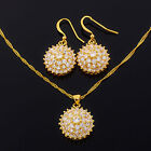Costume Jewellery Jewelry Set Yellow Gold Plated Plated Necklace Earrings