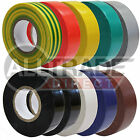 ALL COLOURS PACKS SIZES ELECTRICAL PVC INSULATION TAPE 19mm x 20m BRITISH