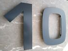 Large brushed Stainless Steel House Numbers / Numerals - FAST, FREE DELIVERY