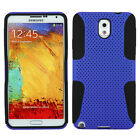 For Samsung Galaxy Note 3 MESH Hybrid Silicone Rubber Skin Case Phone Cover
