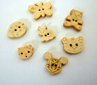 10 Animal Shaped Wooden Buttons Crafts Scrabooking