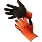 12 PAIRS HI VIZ THERMAL WINTER BUILDERS LATEX WORK GLOVES GARDENING CONSTRUCTION