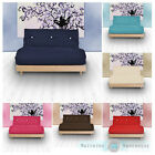 Double 2 Seater Complete Futon Luxury Cotton Twill  Mattress Sofabed Sofa Guest